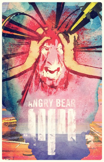 angry bear poster